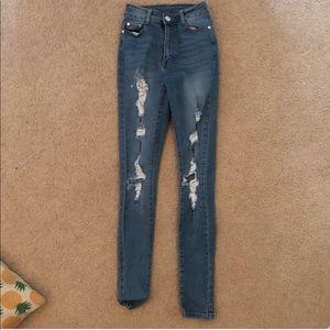 fashion nova size 3/4 jeans